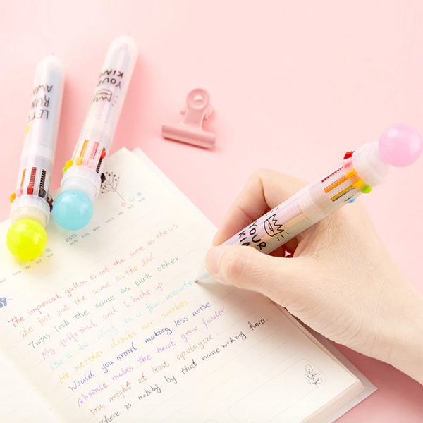 10-in-1 Multicolor Ballpoint Pen