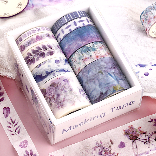 Vintage Purple Masking Tape Set