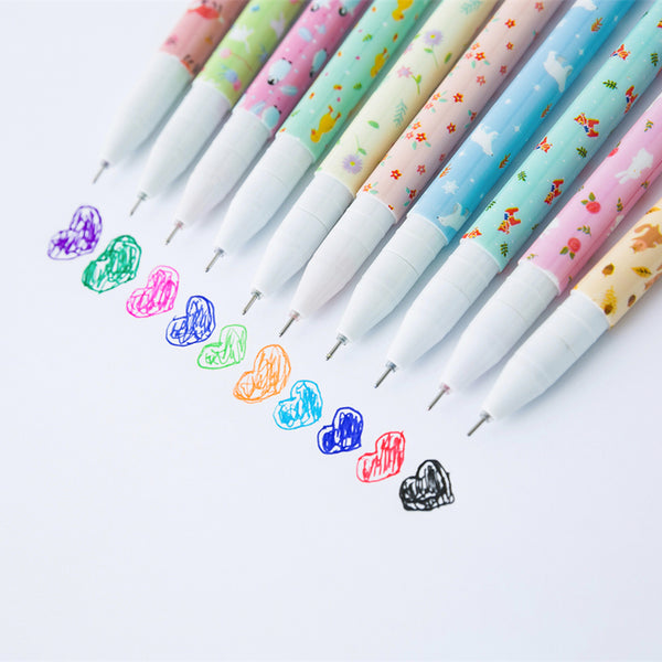 Kawaii Animal Color Gel Pens 10-Pack 2