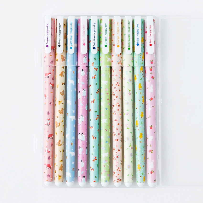 Kawaii Animal Color Gel Pens 10-Pack