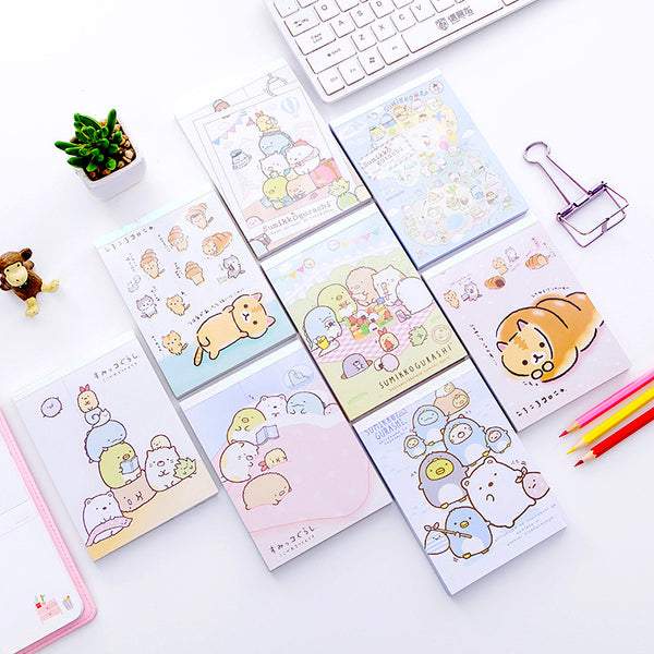 Cute Corocoro Coronya Cat and Sumikko Gurashi Notepad | Notebook | Memo Pad