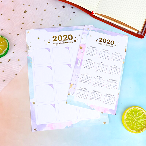 2020 Insertable Calendar for Personal Planner