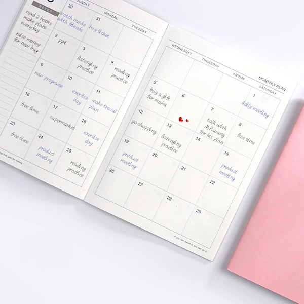 2020 Monthly View Planner
