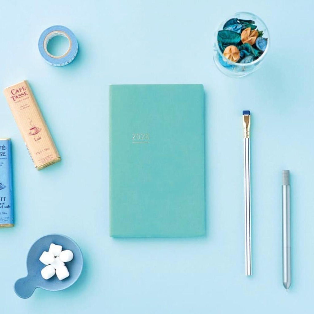 2021 Kokuyo Jibun Techo Lite Diary - Mini B6 Slim - Light Blue