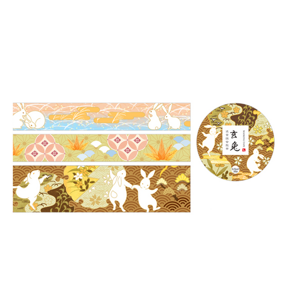 Natsu No Kaze Washi Tapes - Happy Rabbit