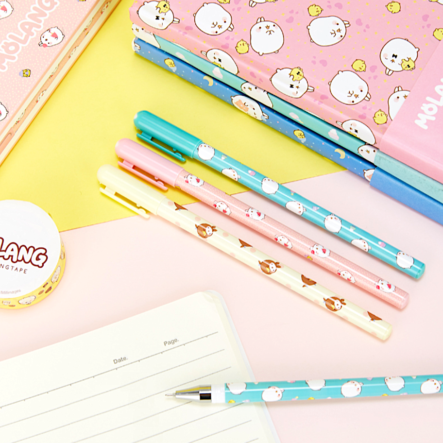 Molang Rabbit Gel Pen Set
