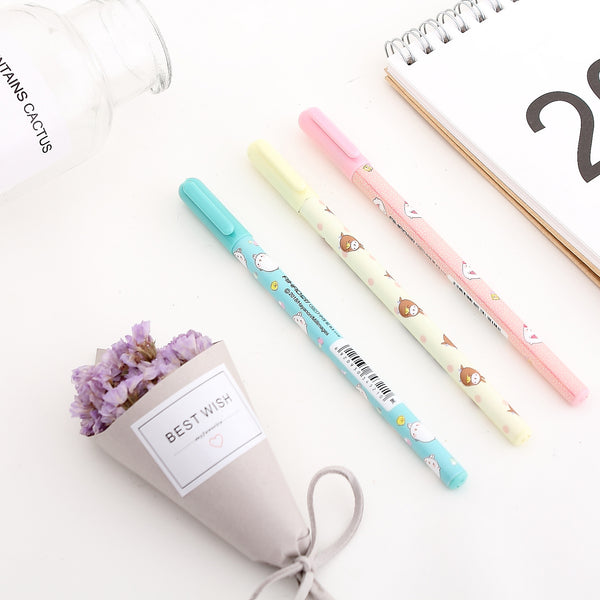 Molang Rabbit Gel Pens | Pen Set