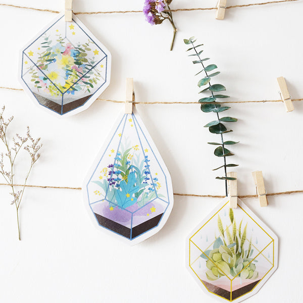 Flower Terrarium Greeting Cards
