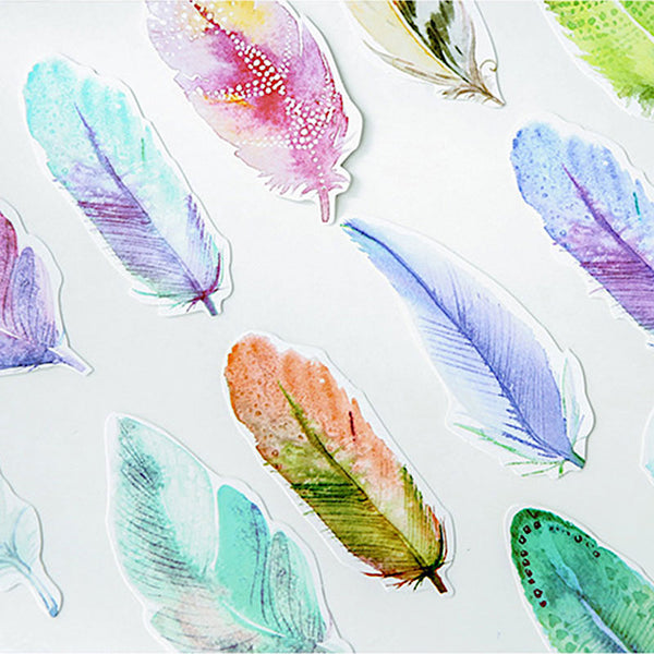 Colorful Watercolor Feather Greeting Cards | Post Cards
