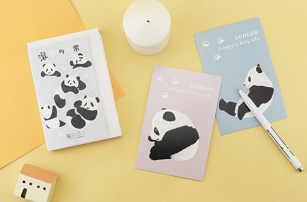 Cute Panda Greeting Cards | Animal Illustration Post Cards