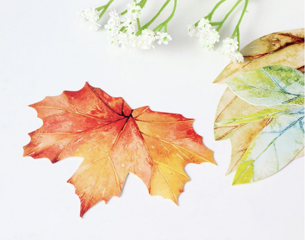 'Written on a Leaf' Greeting Cards