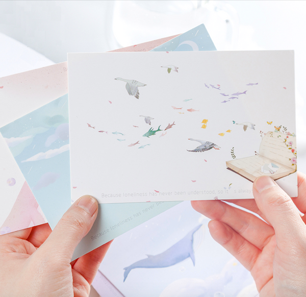 Magic Whale Greeting Cards
