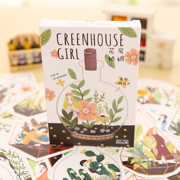 The Greenhouse Girl Greeting Cards | Post Cards