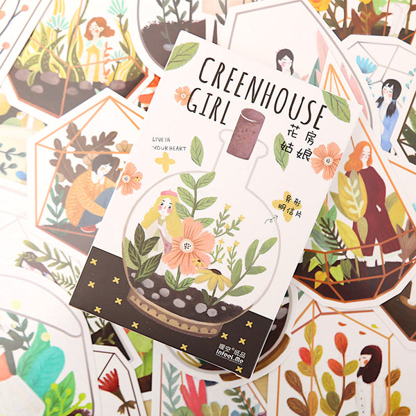 The Greenhouse Girl Greeting Cards