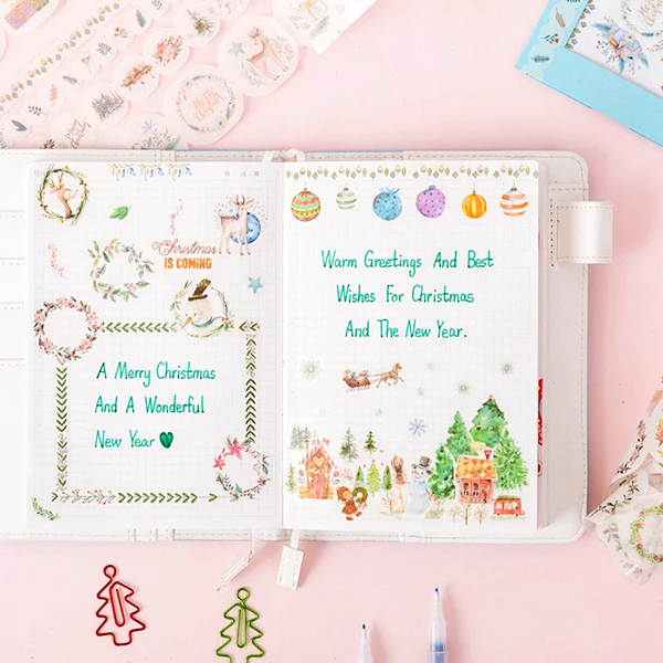 Die-Cut Christmas Washi Tape Set