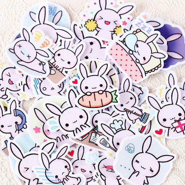 Kawaii Japanese Rabbit Stickers