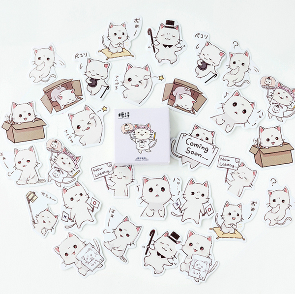 Cute Cat Paper Stickers