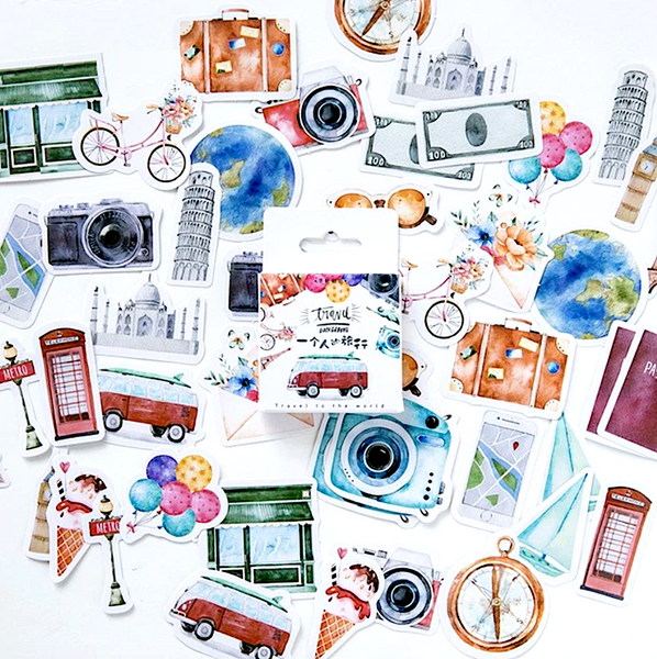 Travel Journal Decorative Paper Stickers