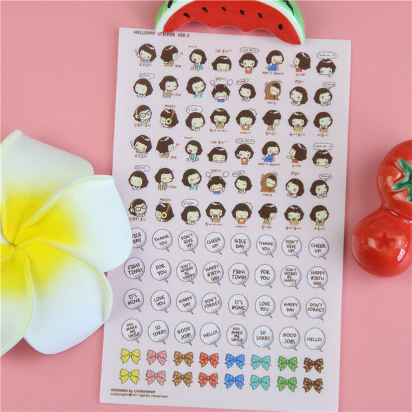 Life of Aiko Stickers Set