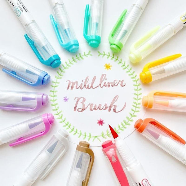Mildliner Brush Pen Set - Pastel Colors