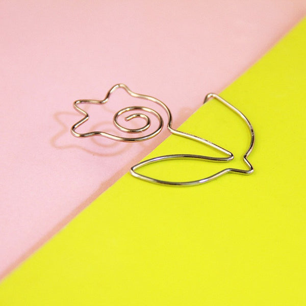 Metal Paper Clips Set