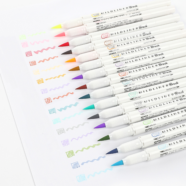 Mildliner Brush Pen Set - Warm Colors