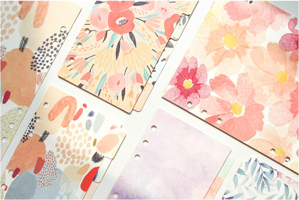 Floral Notebook Dividers