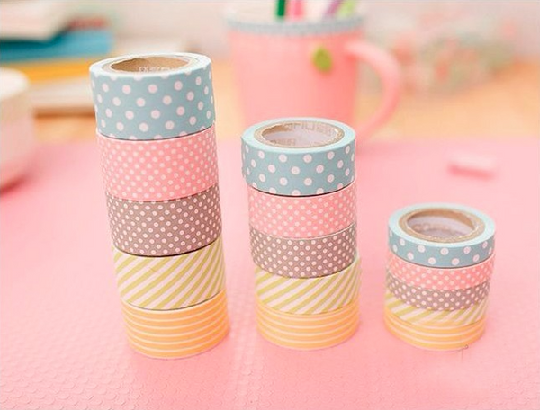 Cute Pattern Paper Washi Tape 5-Pack 3