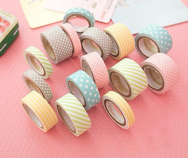 Cute Pattern Paper Washi Tape 5-Pack 6