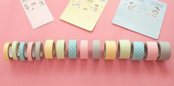 Cute Pattern Paper Washi Tape 5-Pack 5