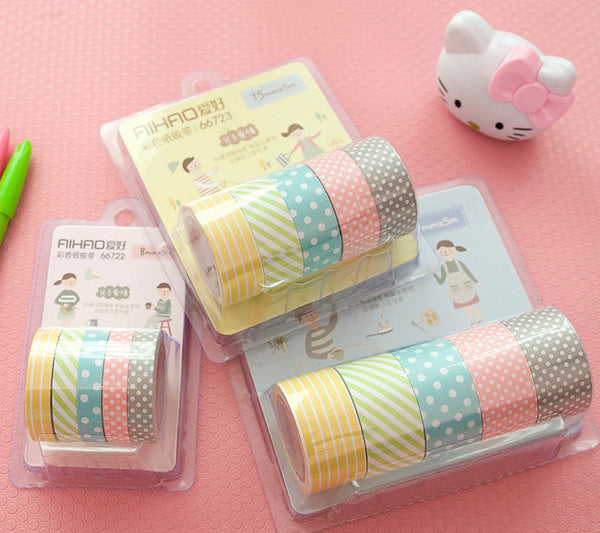 Cute Pattern Paper Washi Tape 5-Pack