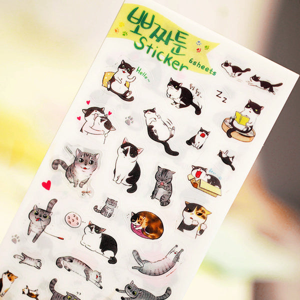 Cute Korean Cat Stickers 2