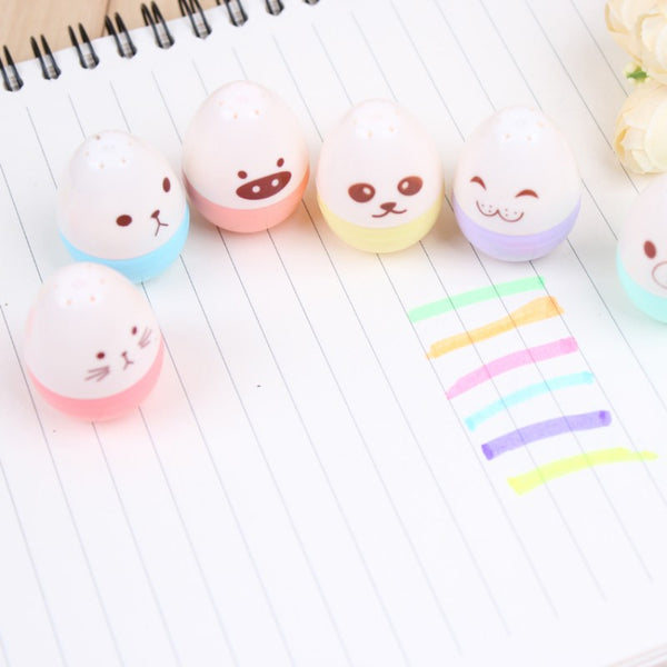 Kawaii Mini Egg Highlighter 6-pack 9