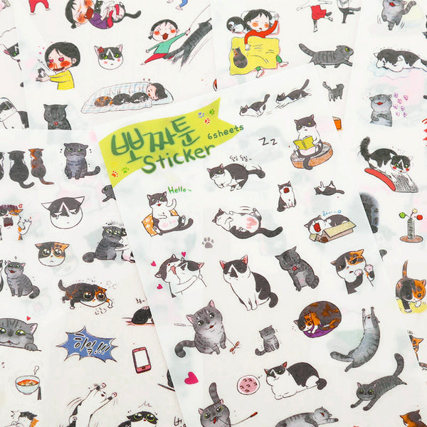 Cute Korean Cat Stickers 3