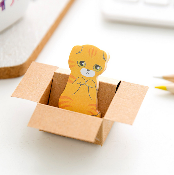 Kitty In A Box Sticky Notes