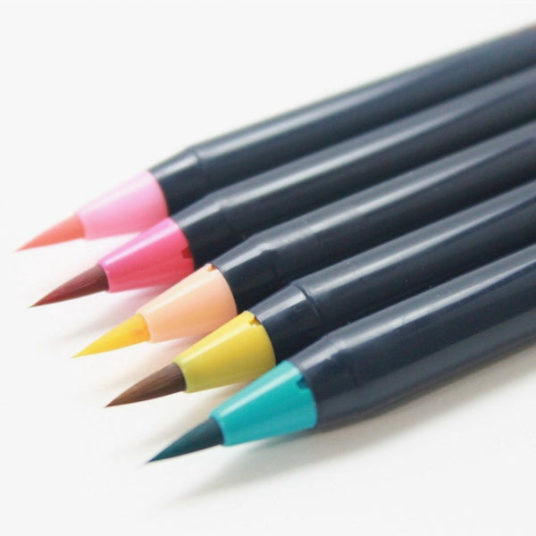 Akashiya Sai Watercolor Brush Pen - 5 Spring Color Set
