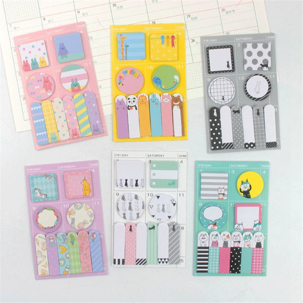 Animal Party Sticky Memo Set 7