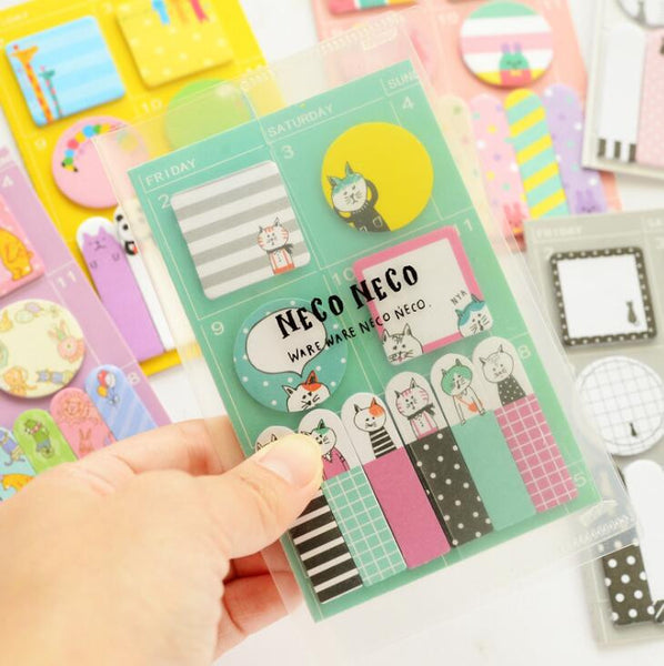 Animal Party Sticky Memo Set 2
