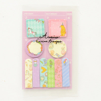 Animal Party Sticky Memo Set 12