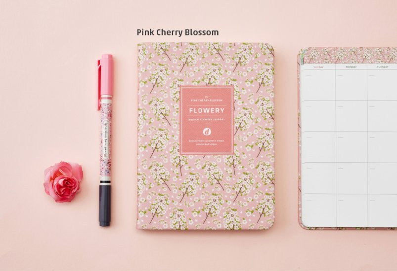 Ardium Flowery Journal Pink Cherry Blossom