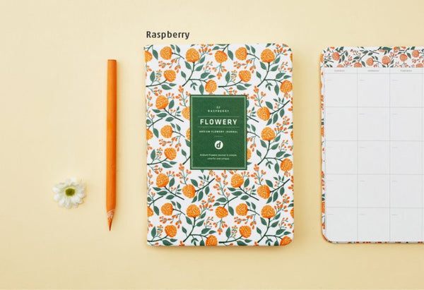 Ardium Flowery Journal Raspberry