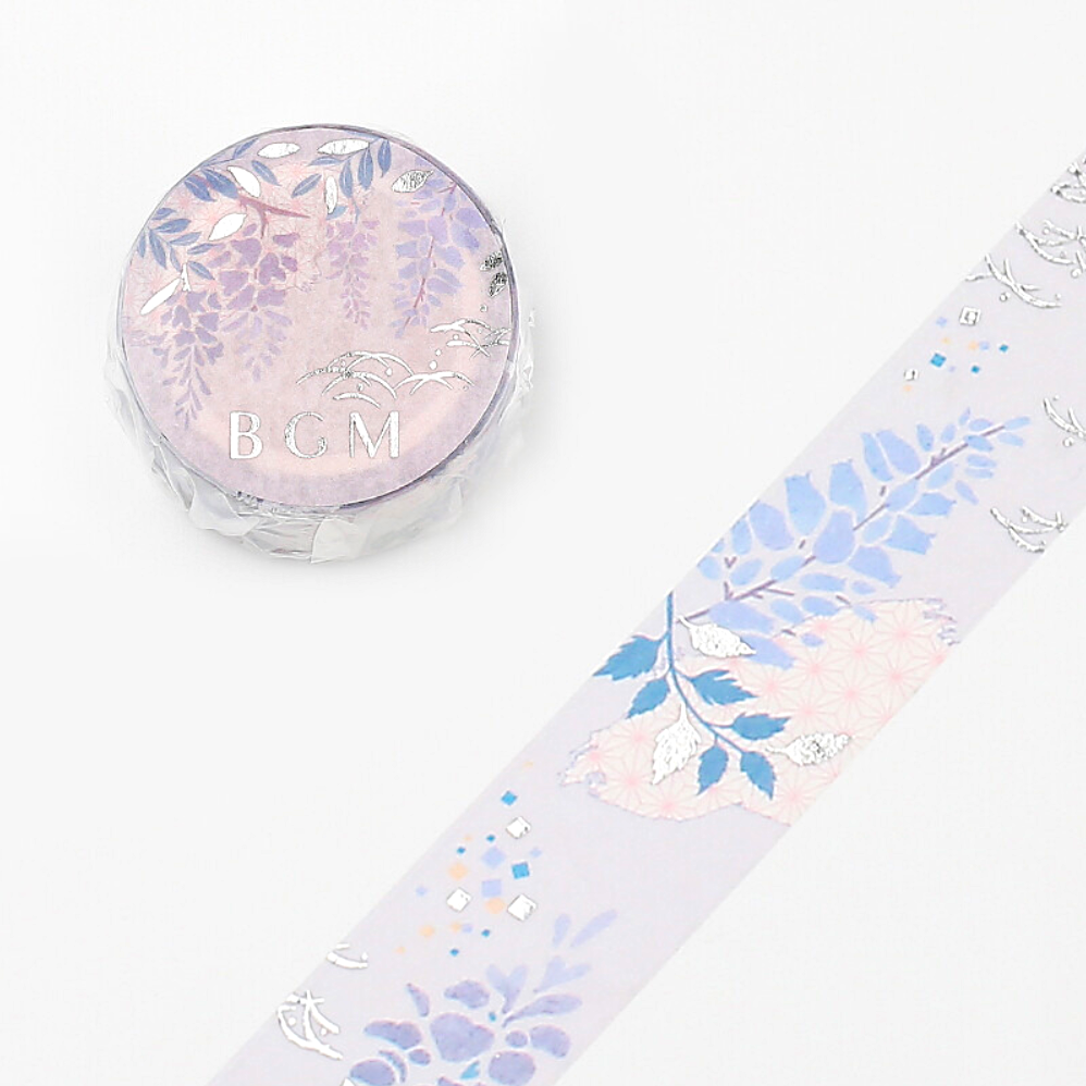 BGM Floral World Masking Tape - Purple Wisteria