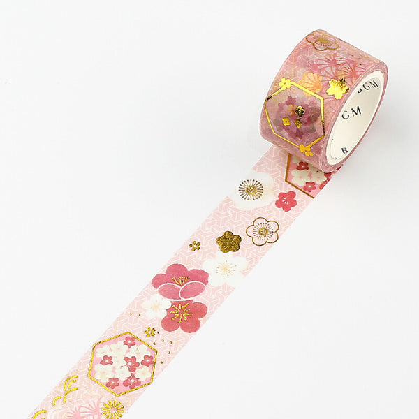 BGM Floral World Masking Tape - Vermilion Plum