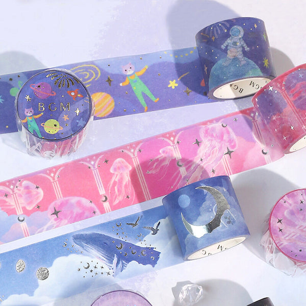 BGM Magic Land Masking Tape - Flying Whales