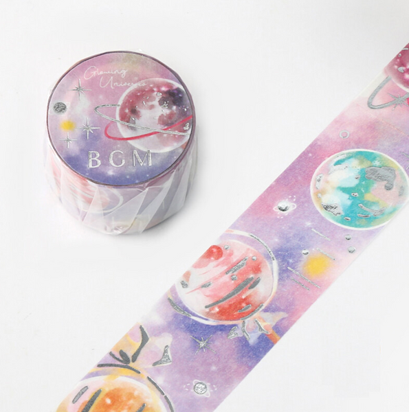 BGM Glowing Universe Masking Tapes - Planets