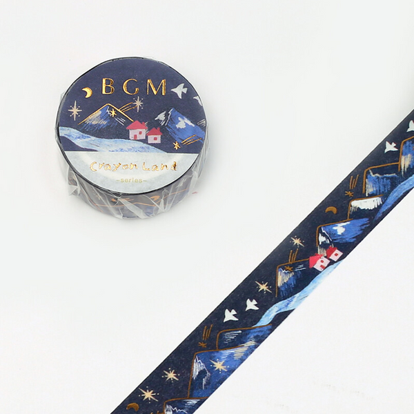 BGM Washi Tape - Mountain Landscape