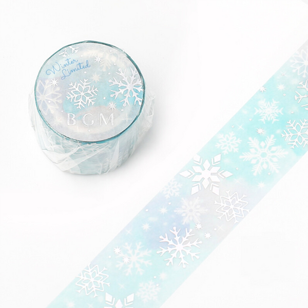 BGM Limited Winter Edition Washi Tape - Snowflakes