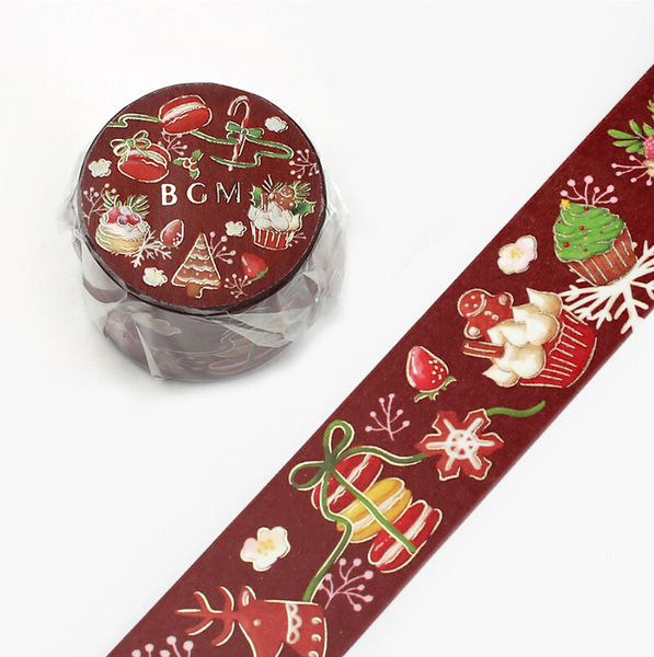 BGM Wide Christmas Washi Tape - Sweet Treats