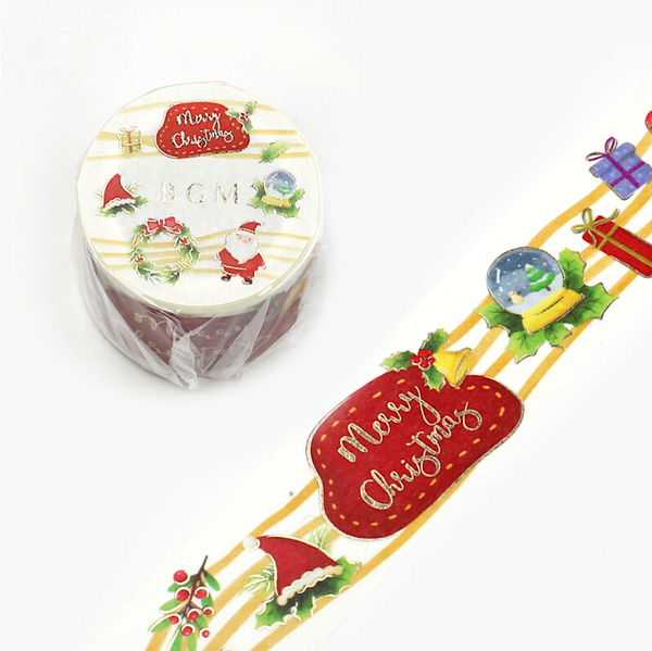 BGM Wide Christmas Washi Tape - Santa Claus