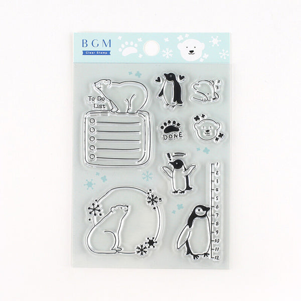 BGM Clear Stamp - Arctic Animals